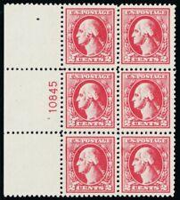 526, Mint VF/XF NH 2¢ Plate Block of Six - Stuart Katz