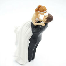Unique Delicate Western Bride Groom Couple Figurine Resin Wedding Cake Toppers