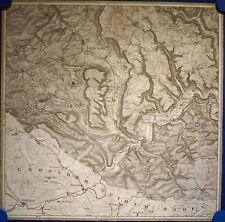 Spaichingen - Tuttlingen - Landkarte der Umgebung - Original von 1837!!