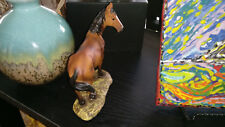 American Mustang Stallion Brown Bay Horse figurine Equine statue sculpture