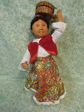 """den-234 Dianne Dengel orig. dolls; """"Market Day"""" - Ooak by Dianne; 17"""" tall"""