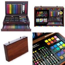 Wood Art Set For Kids 142 Piece Colored Pencil Crayon Sketching Drawing Supplies