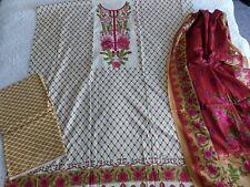 Pakistani Designer Lawn Suit ,unstiched ,shalwar Kameez