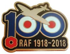 RAF 100 YEARS 1918 - 2018 REMEMBRANCE SPITFIRE PIN BADGE