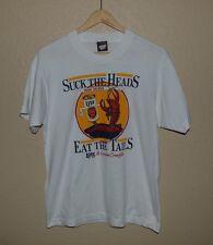 Mens Vintage VTG Screen Stars 50/50 Louisiana Beer and Crawfish T-Shirt LARGE