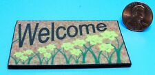 Dollhouse Miniature Welcome Mat / Rug with Daffodils ~ HW475B