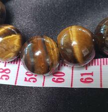 15 mm Brown Tigers Eye Stone Agate Chalcedony Chunky Bracelet Bangle 62 Grams