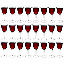 Plastic Wine Glasses Red White Outdoor Dining Strong Drinking Cups X24