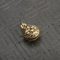 Chinese old Antique Collectible Brass Tiger head small bell Exquisite Pendant