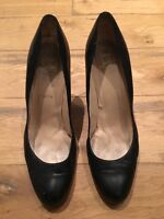 Christian Louboutin Black Leather Wedge Heels Red Sole EU 40 UK 6.5 7 US 9.5 10