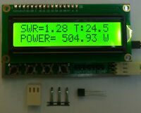 SWR Power Temperature meter LCD indicator dual protection - LDMOS TUBE max 8000W