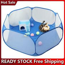 New listing Foldable Pet Fence Game Safe Playpen Animal Cage for Hamster Guinea Pig H1