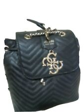 Guess quilted backpack with matching wallet colour black
