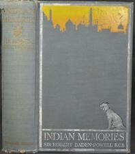 INDIAN MEMORIES Baden-Powell SOLDIERING & SPORT 1915. Raj Big Game Hunting
