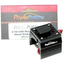 Powerhobby Aluminum Motor Heatsink Cooling Fan 1/10 540 / 550 Size Motor Black