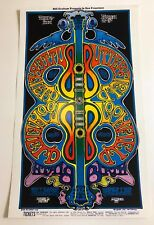 1969 Irons Butterfield Blues Band Mike Bloomfield Fillmore Poster Bg 166 Mint