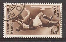 REGNO - 1934 2° CAMPIONATO MONDIALE DI CALCIO - 5 L. + 2,50 L. USATO