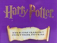 Harry Potter STORYTELLER Figurine of HERMIONE GRANGER, Enesco (2000) *BRAND NEW*
