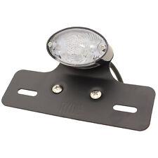RYDE LED BLACK/CLEAR MOTORCYCLE/BIKE REAR/TAIL LIGHT BRAKE/STOP NUMBER PLATE