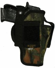 USA Mfg Camo Pistol Holster W Mag Smith & Wesson S&W 910 9MM OWB 9 mm