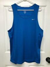 Nike DRI-FIT #519694 Men's Miler Singlet Running Tank Top: L, Blue