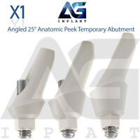 Angled 25° Anatomic Peek Temporary Abutment For Dental Implant Internal Hex