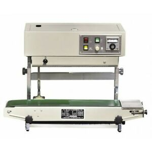 AUTOMATIC VERTICAL CONTINUOUS HEAT SEALER PLASTIC BAGS BAND SEALING SEALER