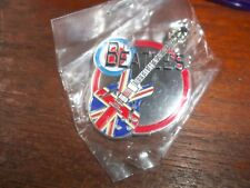 THE BEATLES UNION FLAG LARGE METAL GUITAR LOGO BROOCH-BADGE-PIN NEW, IN BAG