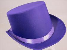 PURPLE SATIN TOP HAT CHARLIE WILLY WONKA - BOOK WEEK FANCY DRESS PARTY