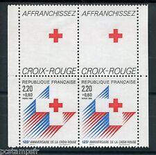 FRANCE - Paire Croix Rouge 1988 / vignette - neuf**, TB