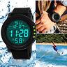Men's Sport Watches LED Date Waterproof Digital Quartz Military Wrist Watch