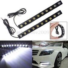 2x Soft Strip Daytime Running Light DRL 10 LED Auto Car Eagle Eye Fog Lamp 12V