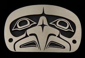 Tlingit Hawk NWC Belt Buckle Solid Sand Cast Bronze Rainbow Metals Brand New!