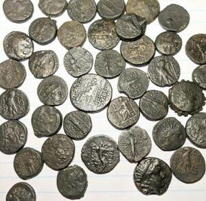 3 Genuine Ancient Greek Bronze Coins Various Rulers, Seleukid, Ptolemaic