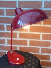 VINTAGE BAUHAUS ITALIAN BURGUNDY INDUSTRIAL  RETRO  DESK TABLE LAMP MAKERS MARK