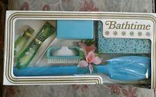 BATHTIME retro bath accessories gift set nail brush back brush sponge soap box