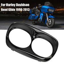 USA Gloss Black Scowl Headlight Bezel Trim Outer For Harley Road Glide 1998-2013