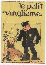 Carte Postale Tintin. Le Petit Vingtième n°42 du 18 OCTOBRE 1931 - réf F/25