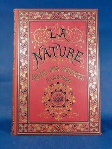 1883 La Nature Revue des Sciences Illustrée 11e année Météorologie Astronomie...