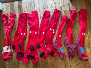 Under Armour Red Softball Socks 8 Eight Pairs!