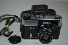 FED 5B Soviet Rangefinder Camera. Industar-61L/D Lens. Good Condition. (545585)