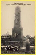cpa 33 - LUGAIGNAC Monument aux Morts GRANDE GUERRE Gerbe Jeunesse Lugaignacaise
