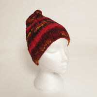 Funky Hand Knitted Winter Woollen Beanie Hat. One Size, UNISEX NB12