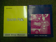 2004 Hyundai Santa Fe Service Repair Shop Manual Set W Technical Bulletins Book