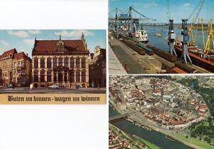 3 verschiedene AK Bremen Hafen - Schütting - Luftbild in Farbe - unbenutzt