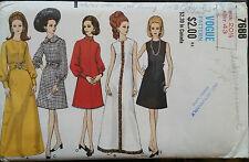 FABRIC SEWING PATTERN VOGUE #7688 Evening Frock Dress A-Line Long/Short 70s B 43