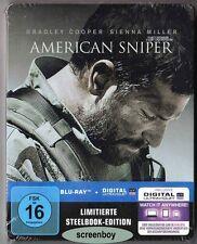 """""""AMERICAN SNIPER"""" - Clint Eastwood - Bradley Cooper - BLU RAY STEELBOOK Rar OOP"""