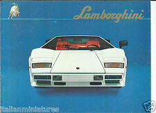 LAMBORGHINI COUNTACH lp500 S BROCHURE ORIGINALE intorno al 1982 ottime condizioni