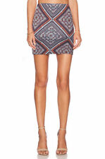 Above Knee Geometric Mini Skirts for Women