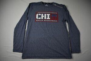 Chicago Bulls Fanatics Long Sleeve Shirt Men's Blue Poly Used Multiple Sizes